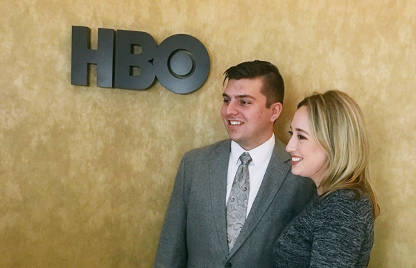 students working at HBO