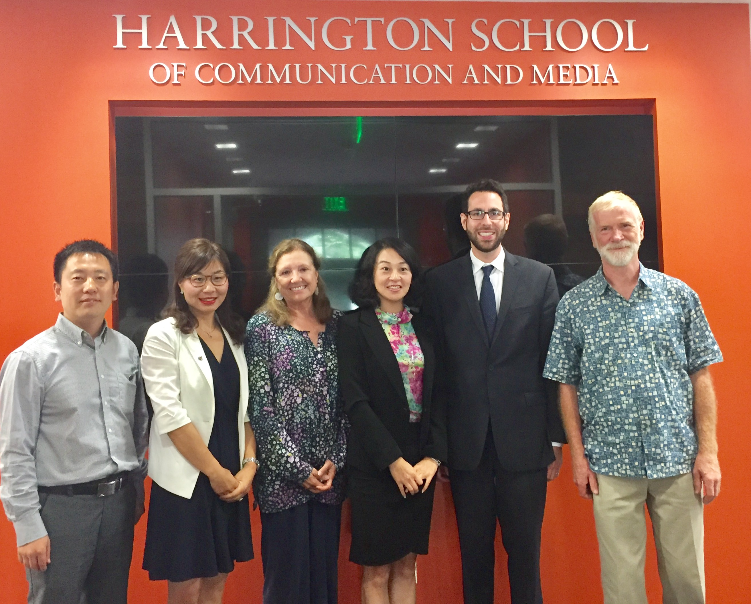 Chinese delegation at the Harrington School